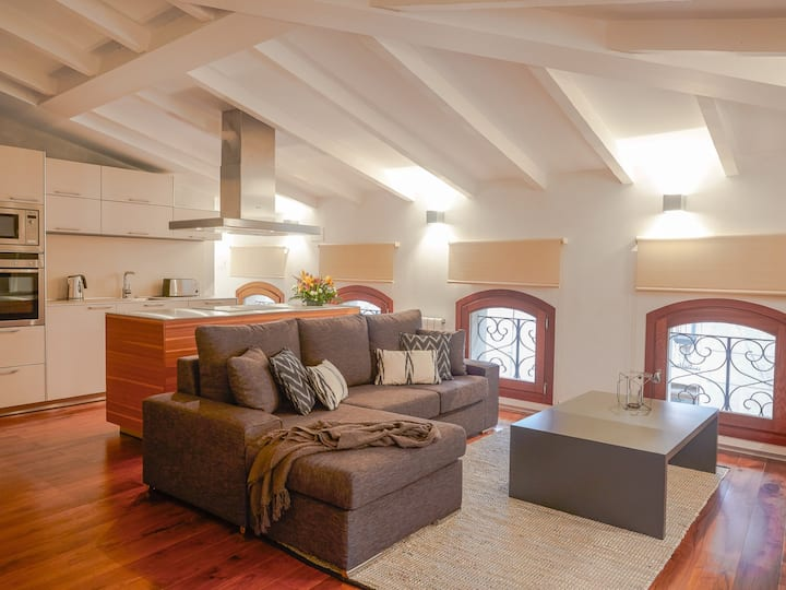 Attic with Sloping Ceiling in Old Town