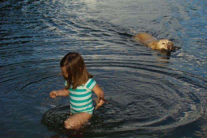 Fun, lazy days playing in the lake