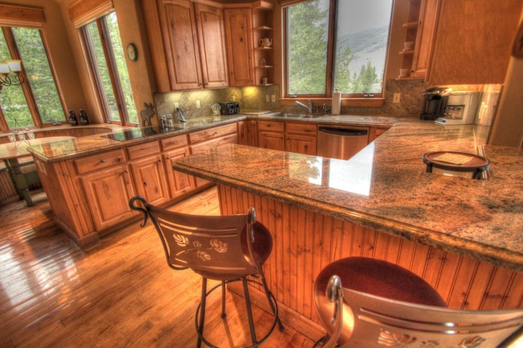 Chef`s Kitchen with granite countertops