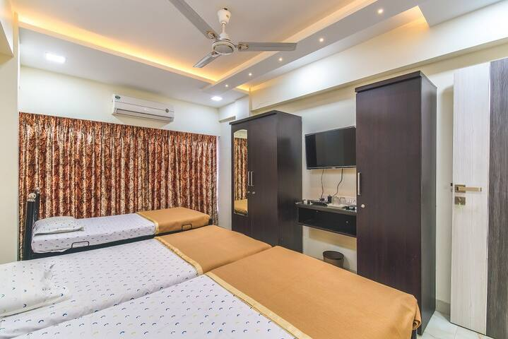 Four Bedded Family A/c Room with Private Bathroom (Outside)