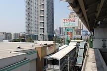 Onnut BTS Station, direct entrance to Tesco Lotus