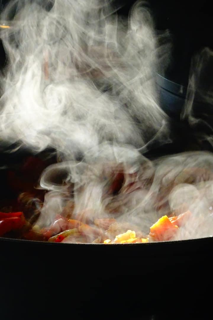 Steamy ratatouille