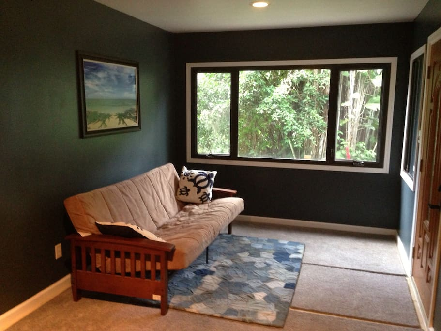 Living Room Futon with HUGE picture window