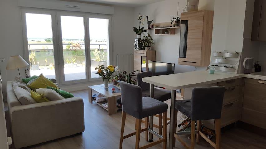 Appartement lumineux au calme à 30 km de Paris - Bondoufle - Apartemen