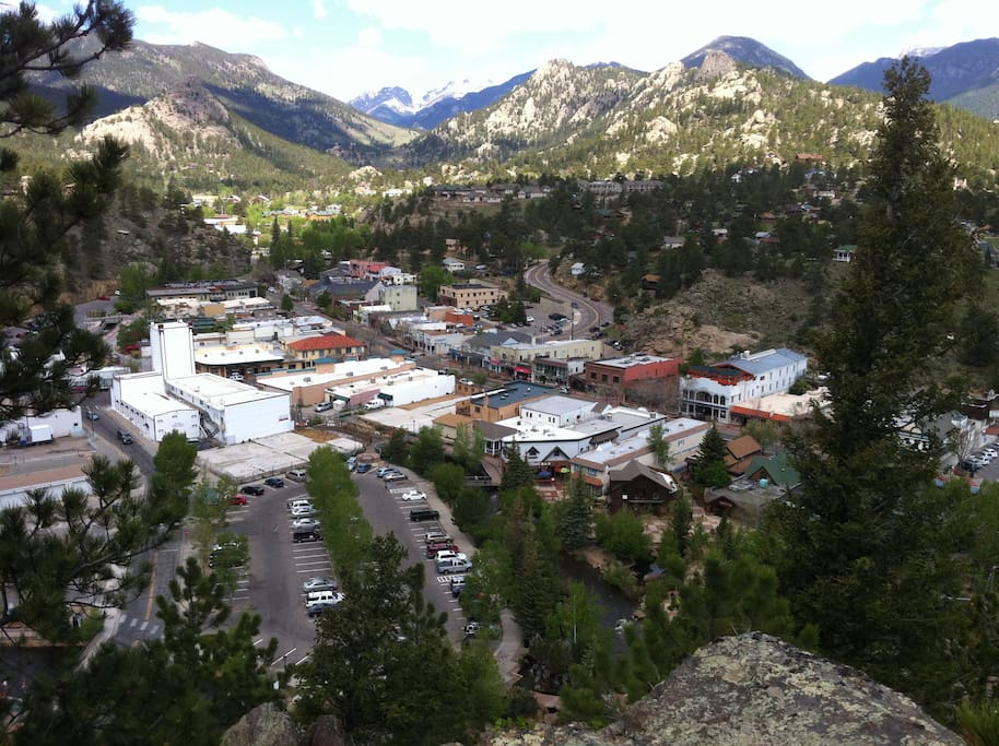 A short stroll to the storied historic district of Estes Park, CO.