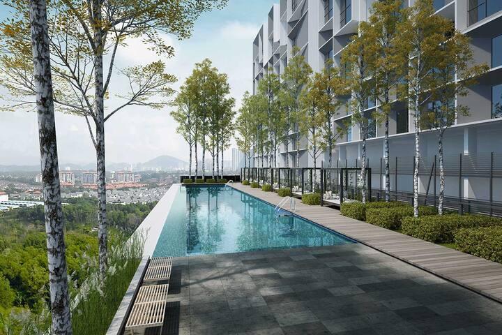 Cyberjaya/Putrajaya Best POOL/Balcony @ Tamarind