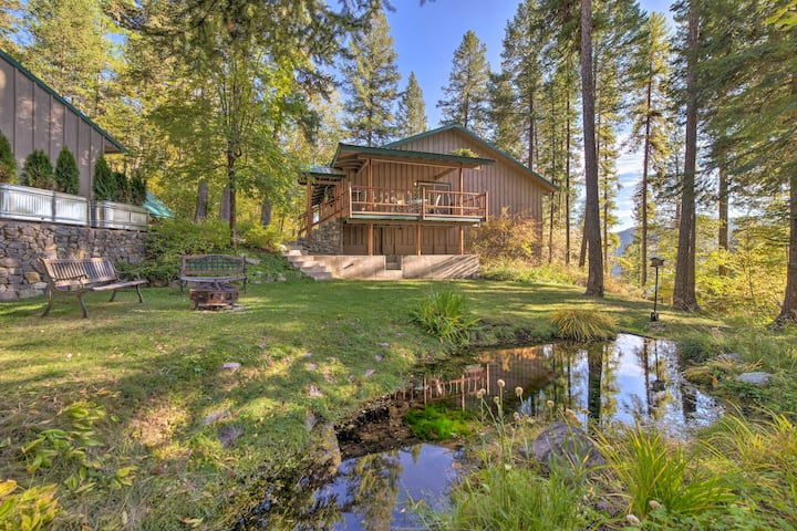 NEW! Secluded Forest Sanctuary Near Whitefish Lake