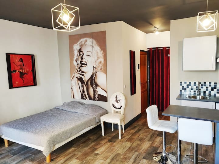 Monroe's Studio at the heart of Cannes and beaches