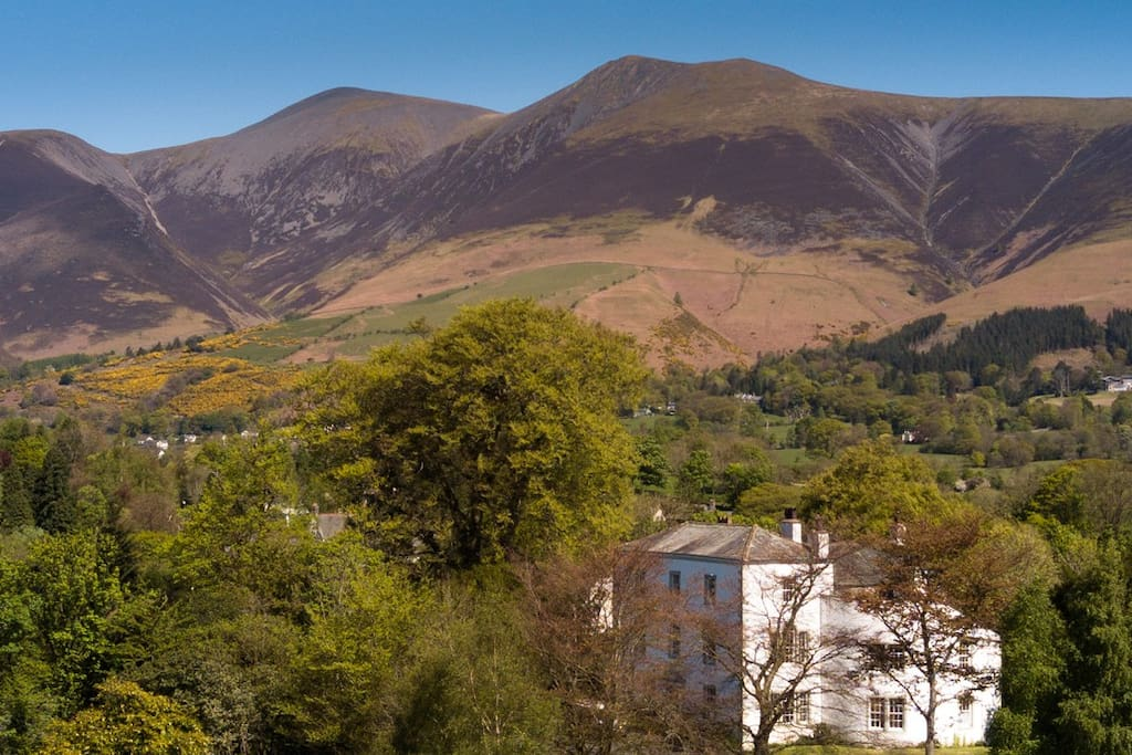 Greta Hall with Skiddaw rising behind