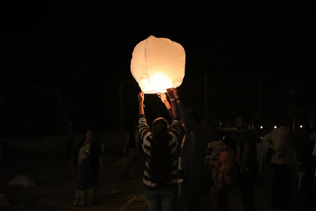 sky lanterns during our new year celebration