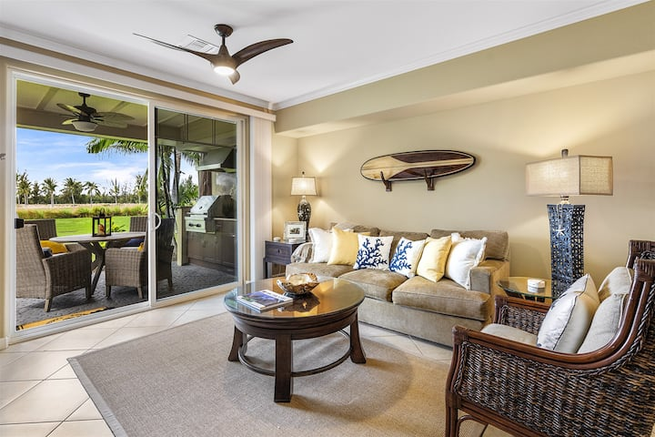 Waikoloa Beach Villas K2;  bedroom, 2 bathroom Ground floor villa with private BBQ