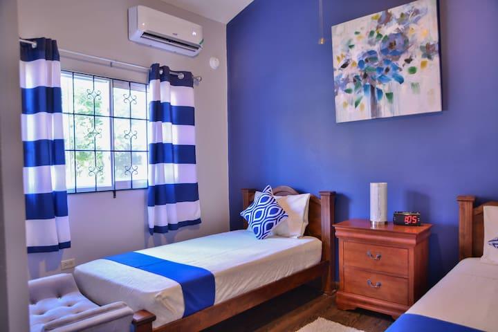 Blue twin room