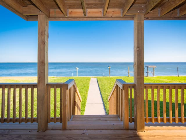 Beautiful water views from the back porch