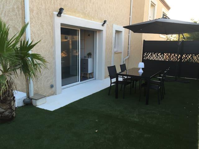 T2 NEUF Design tout confort + jardin privatif - Marseillan - Daire