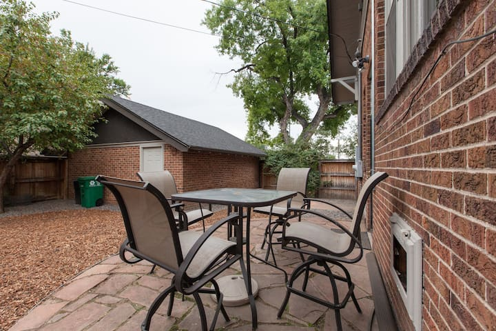 Pleasant shared patio space for enjoying our beautiful Colorado weather.