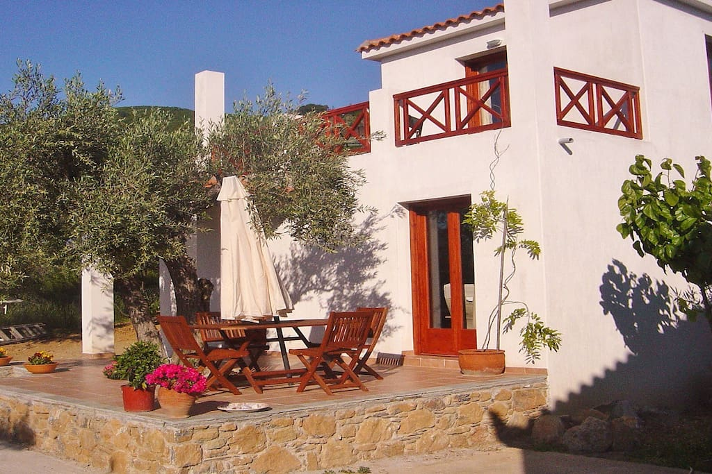peaceful and privat and though close to the town