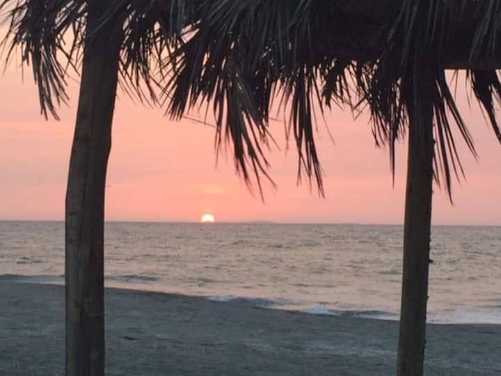 Casa Rustica de Playa, atardeceres espectaculares