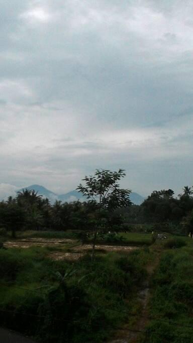 Mountain puncak mangu view ...