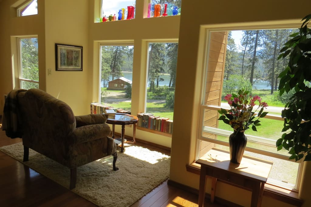 View of the Lake from the Living/Dining room windows.