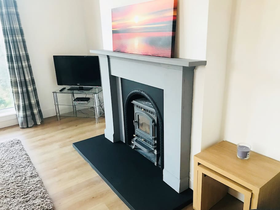 Lounge with Fuel Burning Stove