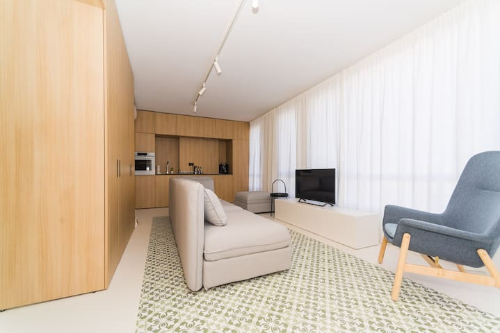 Big 2-bedroom apartment near the town center