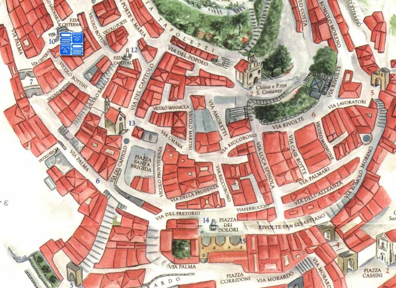 mappa della pigna