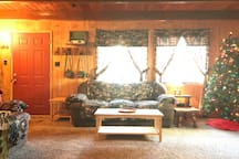 Our cabin is cozy and warm all year round.