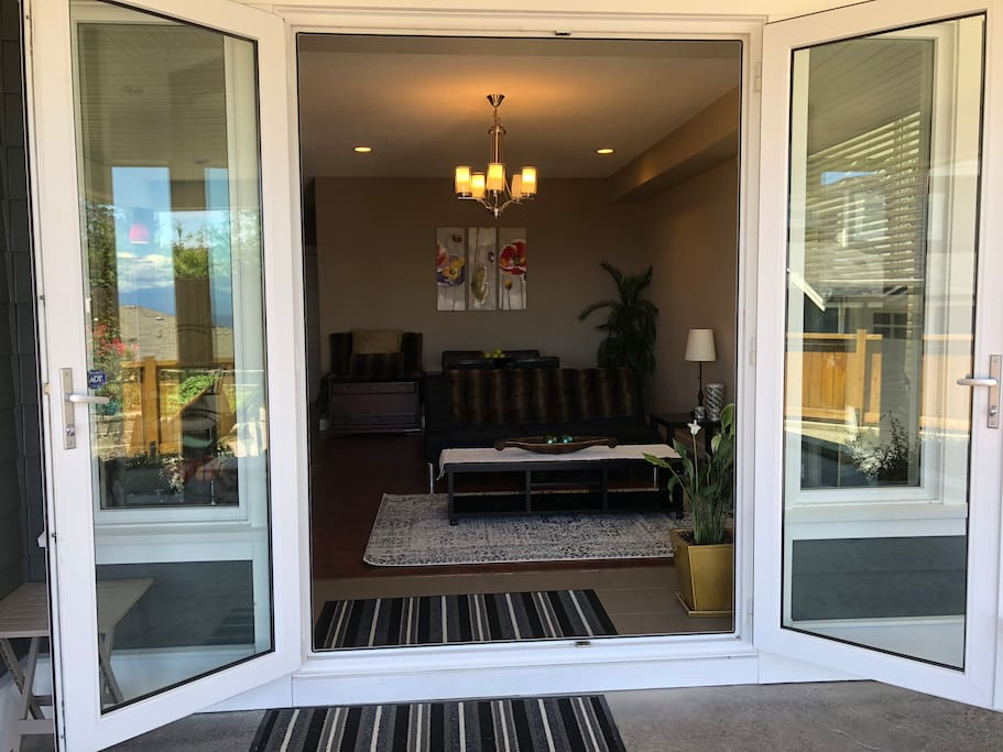Looking into the suite from the patio entrance door