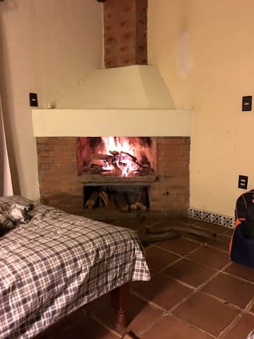 Cozy fireplace in each room