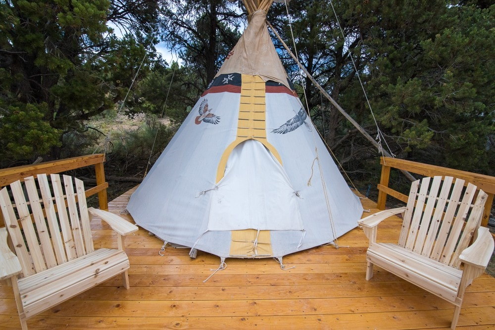 & Native American Tipi - Tipis for Rent in Boulder Utah United States