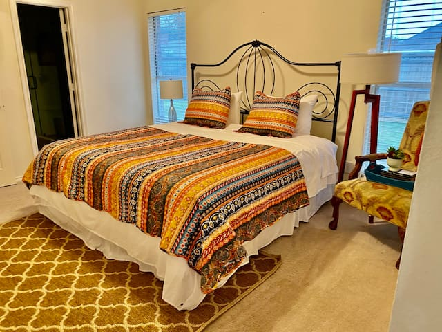 Rest and enjoy this masters bedroom with king size bed.