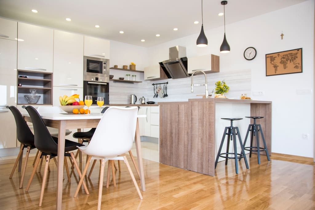 Spacious kitchen and dining room with every thing you need