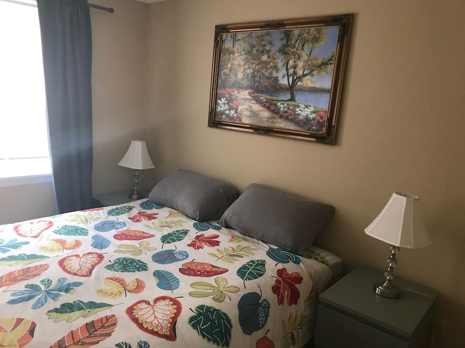 Another View of First bedroom, queen sized bed.