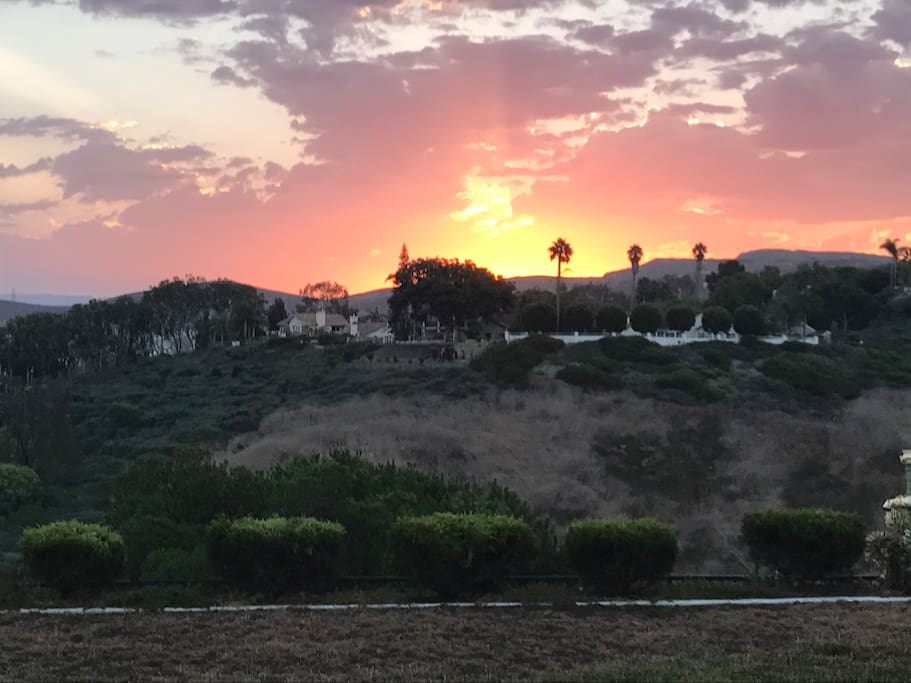 Sunrise in backyard at 6:35 am August 31 2017