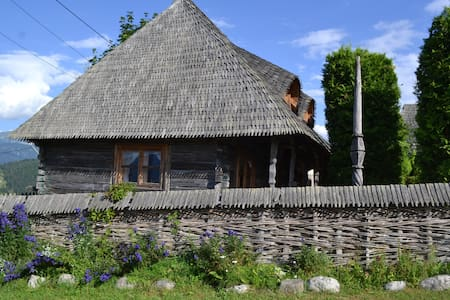 Traditional romanian wooden house