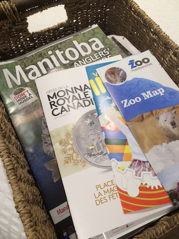 Brochures for Manitoba and Winnipeg activities to help you with ideas on things you can do while you're here!