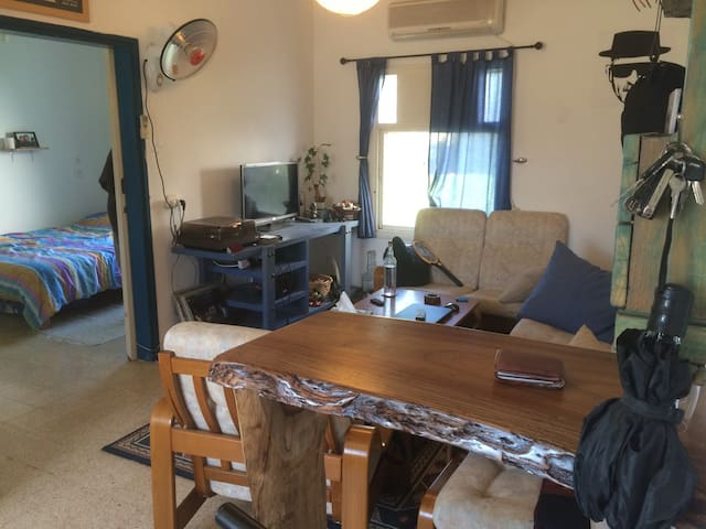 Kibbutz Dafna - living room+2 rooms - Dafna - 公寓