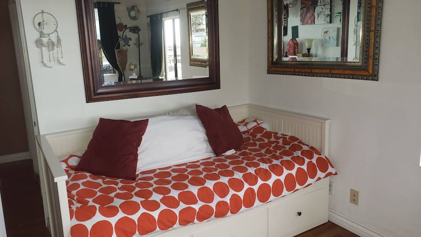 second bedroom - opens to a king bed or 2 twins