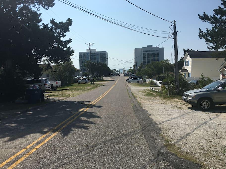 Side street, easy walk to Ocean