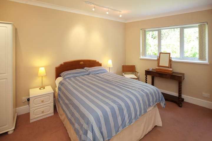 Rosa 1 bedroom with view into the back garden.  Blackout blind  ensure your privacy.  Very quiet room with a king size bed with tempura mattress.