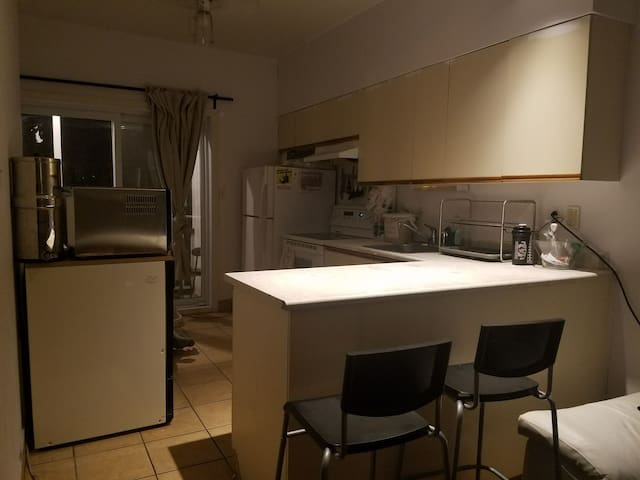 Spacious Luminous  1Br Appartement with projector!