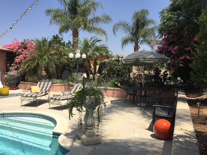 Secluded Pool House with Private Entry & Patio