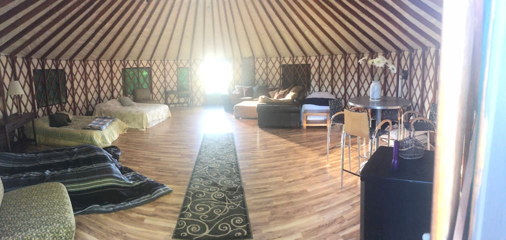 Stay in a yurt in the country!