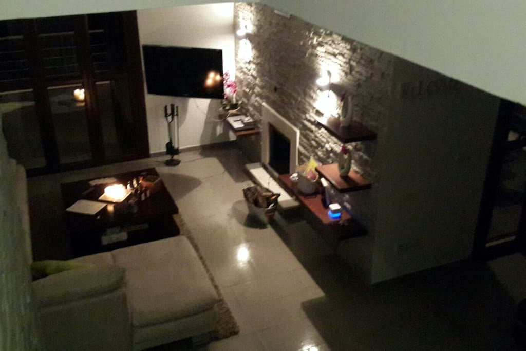 Living area at night (relaxing mood)