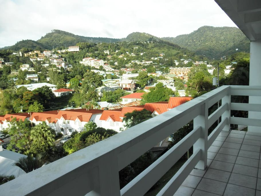 Amazing View of Cascade from Large Spacious Balcony.  WIFI accessible everywhere in the apartment.