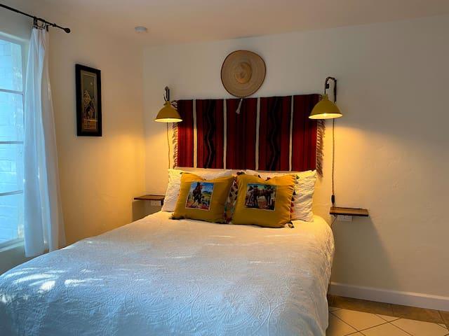 Old West bedroom, queen bed