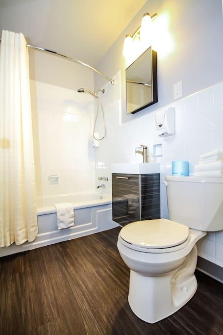 Fresh and clean bathrooms