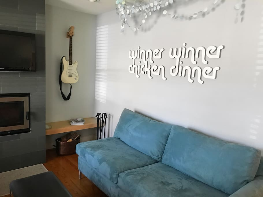 Relax in the living room--or plug in the base and rock out!