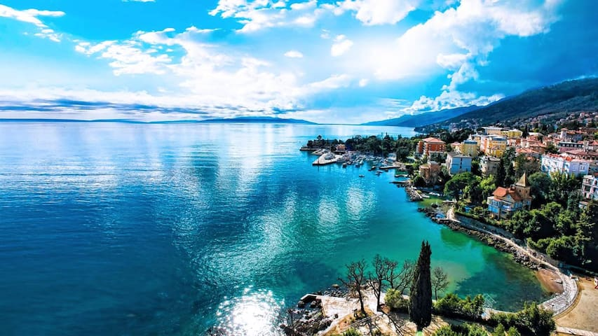 new 4* apartment 70m from sea - Opatija - Pis