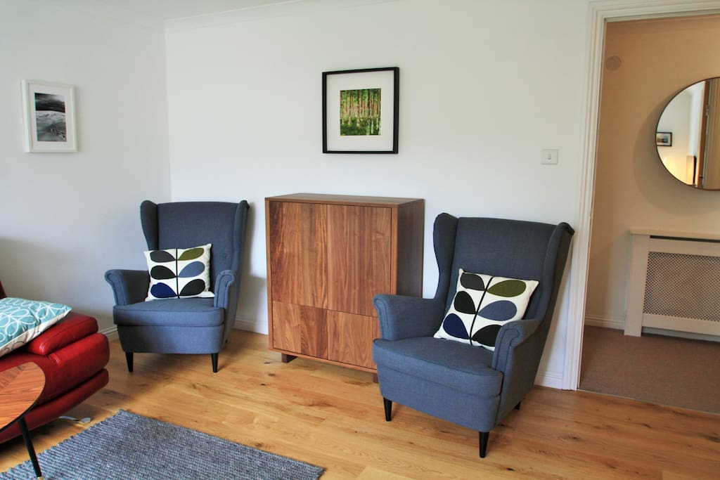 single chairs in the living room